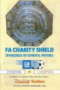 Charity Shield programme 1984