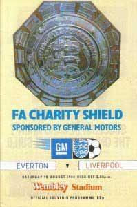 Charity Shield programme 1984