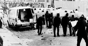 Rioting in Liverpool in 1981