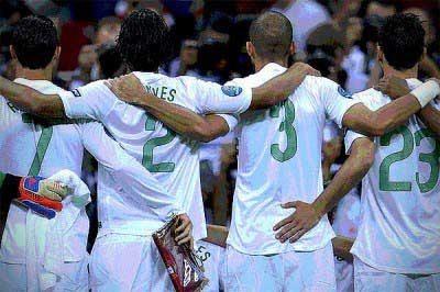 The boys and Ronaldo
