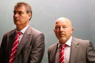 Pep Segura (left) with Frank McParland (Pic: David Rawcliffe)