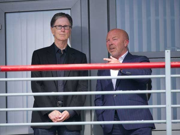 FSG's John Henry at the Academy with Frank McParland (Pic: David Rawcliffe)
