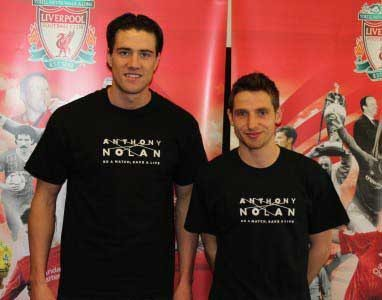 LFC's Martin Kelly and Joe Allen are behind the campaign to get more donors for the Anthony Nolan register