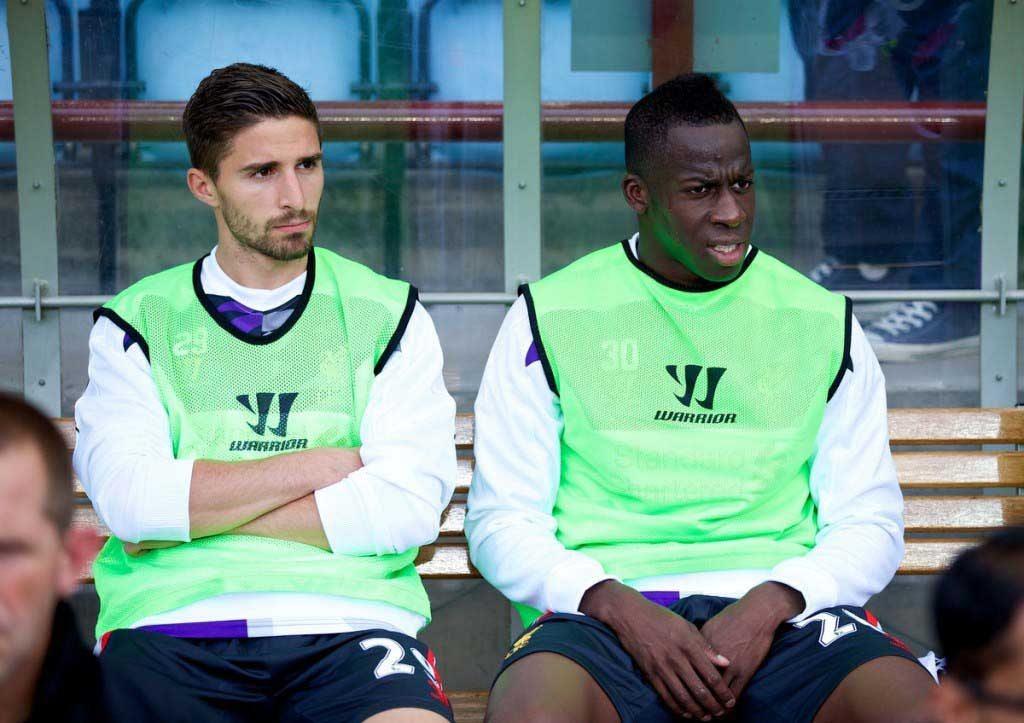 The Liverpool bench didn't help Borini's confidence. Pic: Propaganda