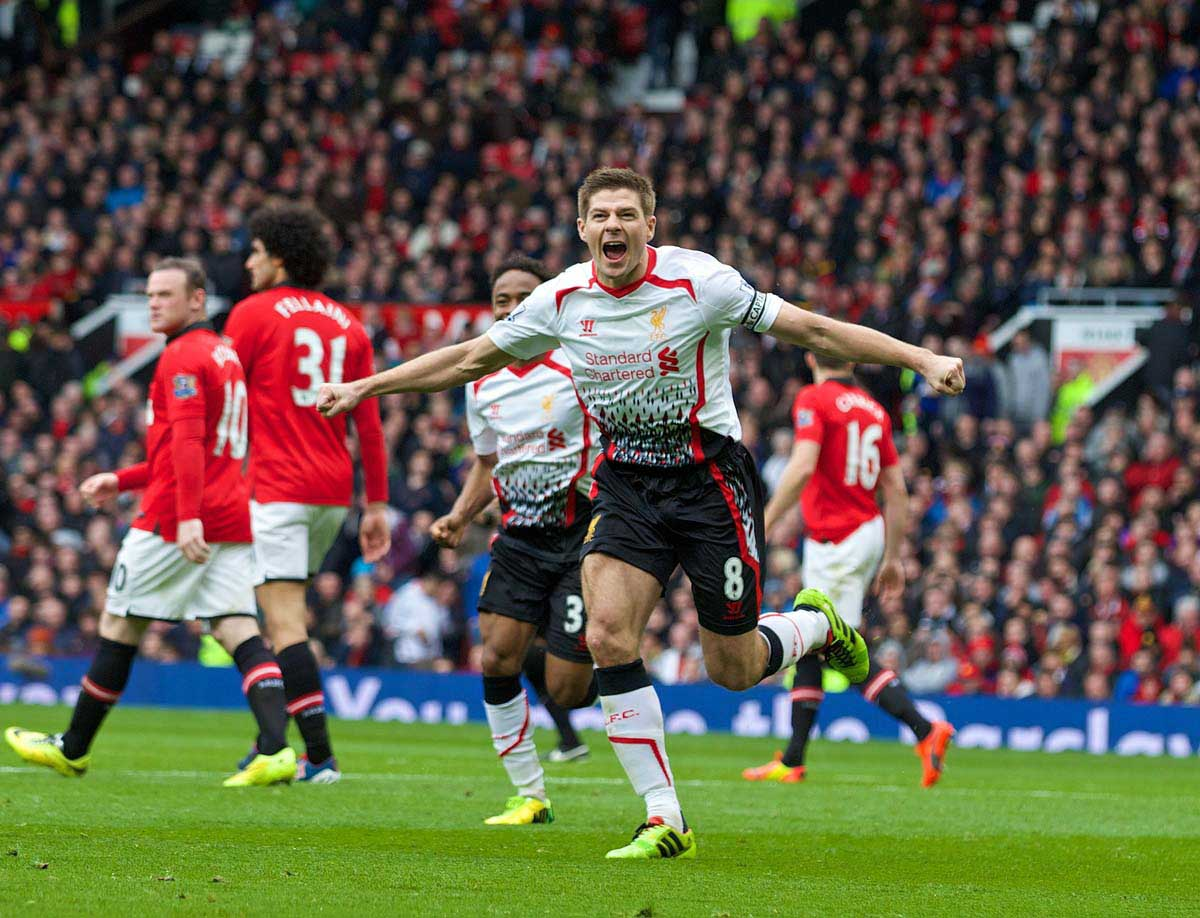MANCHESTER UNITED 0 LIVERPOOL 3