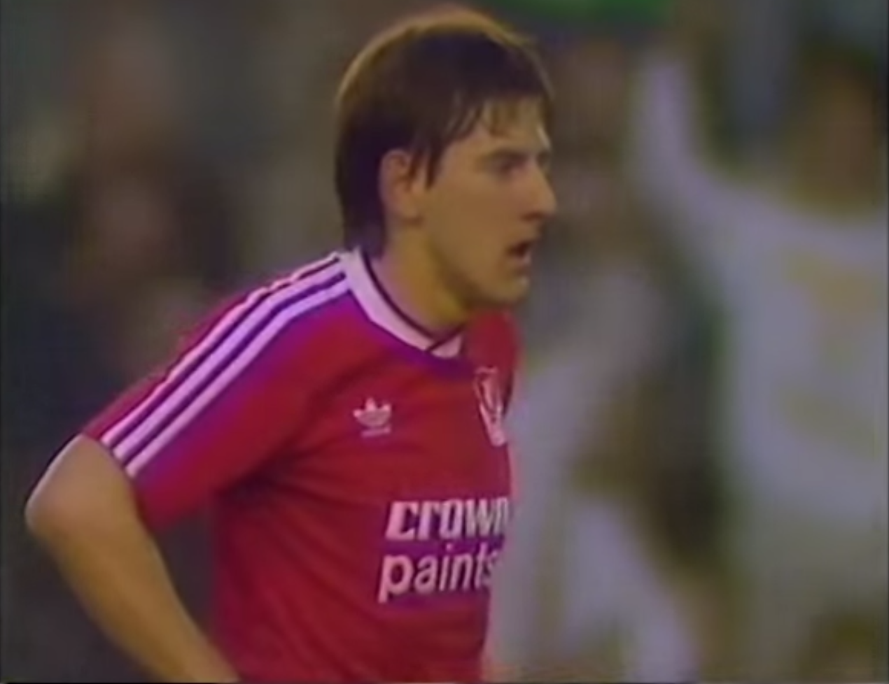 ON THIS DAY: BEARDSLEY GETS A KISS FROM A MAN WEARING A BLUE STRIPED SHIRT