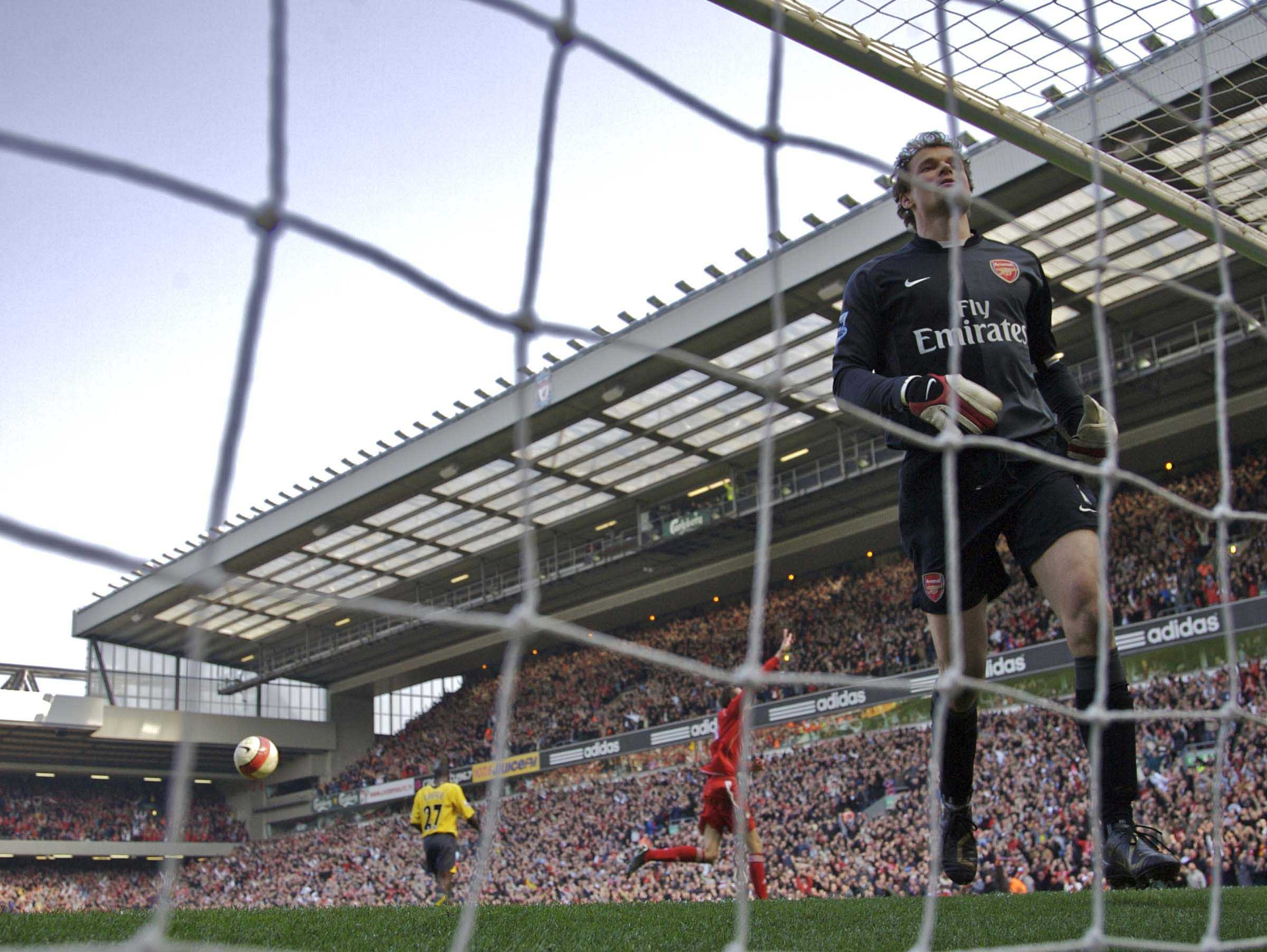 LIVERPOOL #ONTHISDAY 31/3/2015 CROUCH HAT-TRICK SINKS ARSENAL