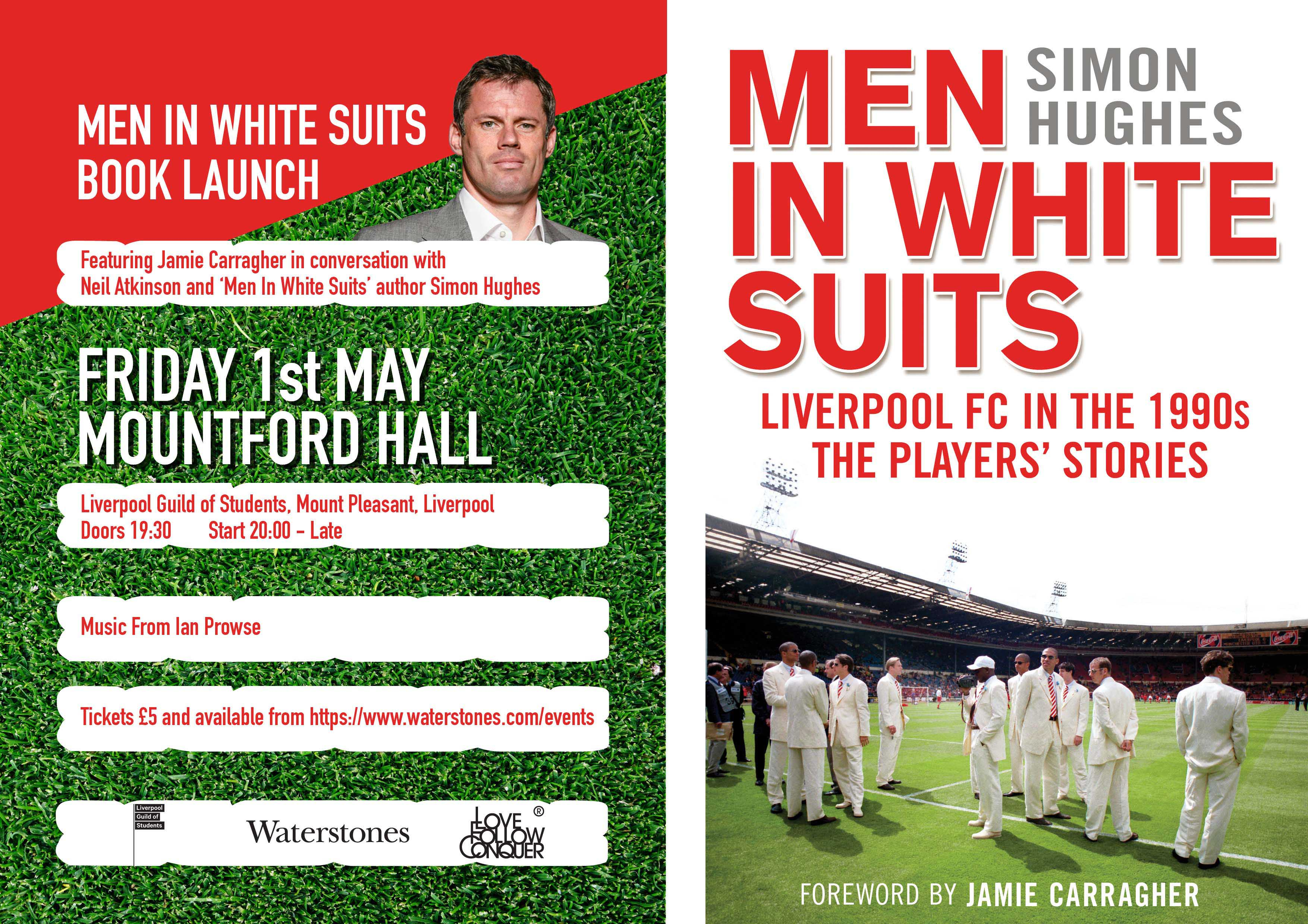 MEN IN WHITE SUITS BOOK LAUNCH WITH JAMIE CARRAGHER