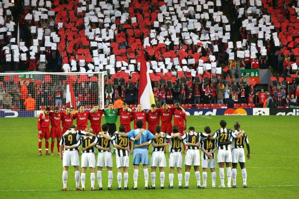 Liverpool v Juventus 2005 Champions League Quarter Finals Players