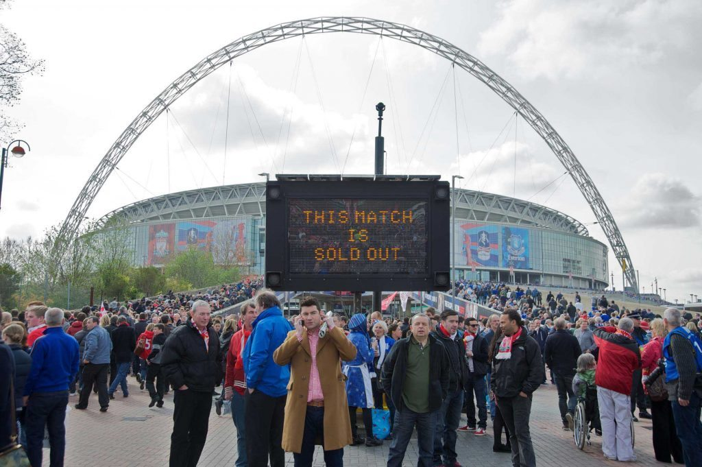 Liverpool Fans Outside Wembley