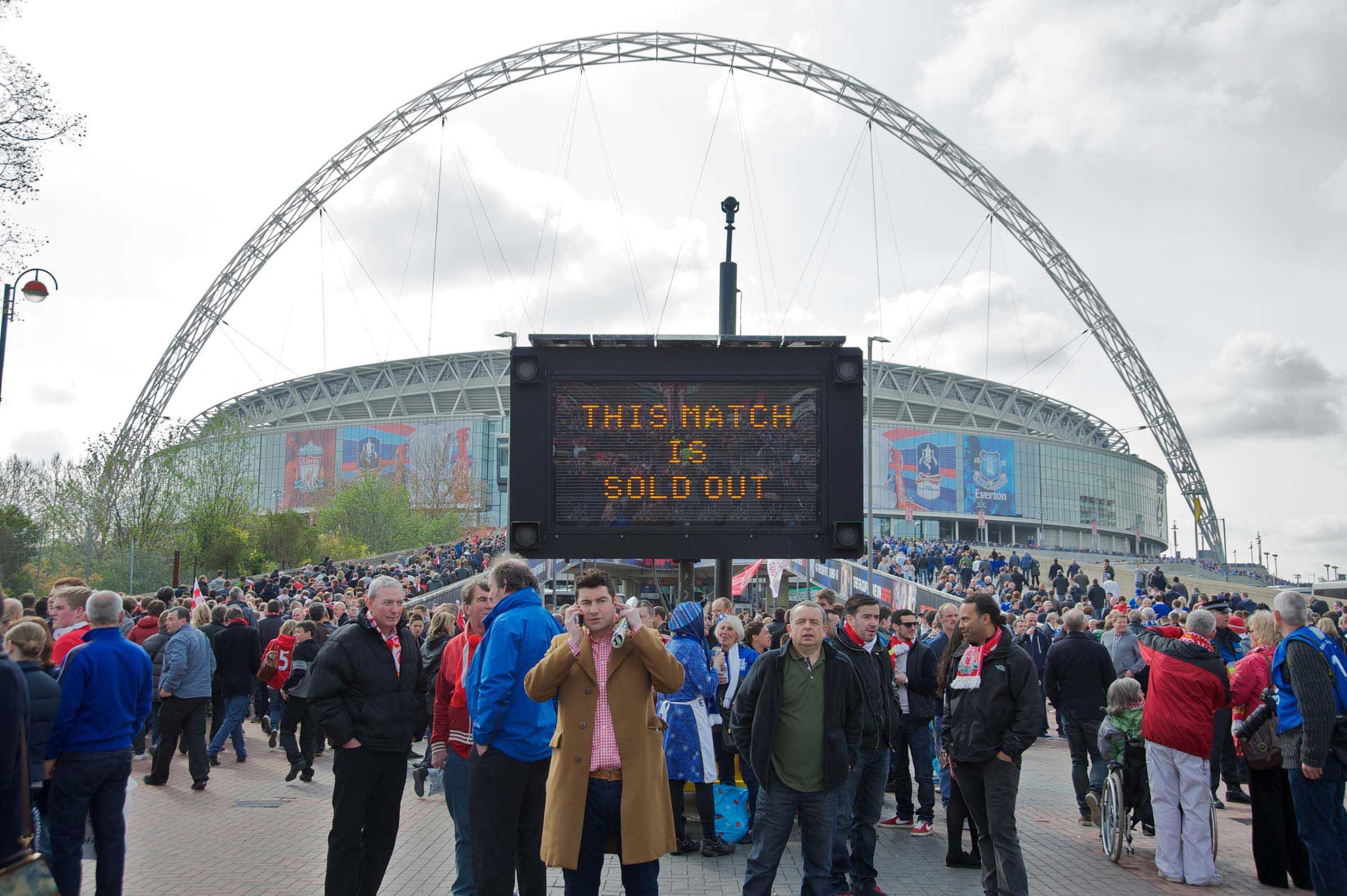 Liverpool Fans Outside Wembley