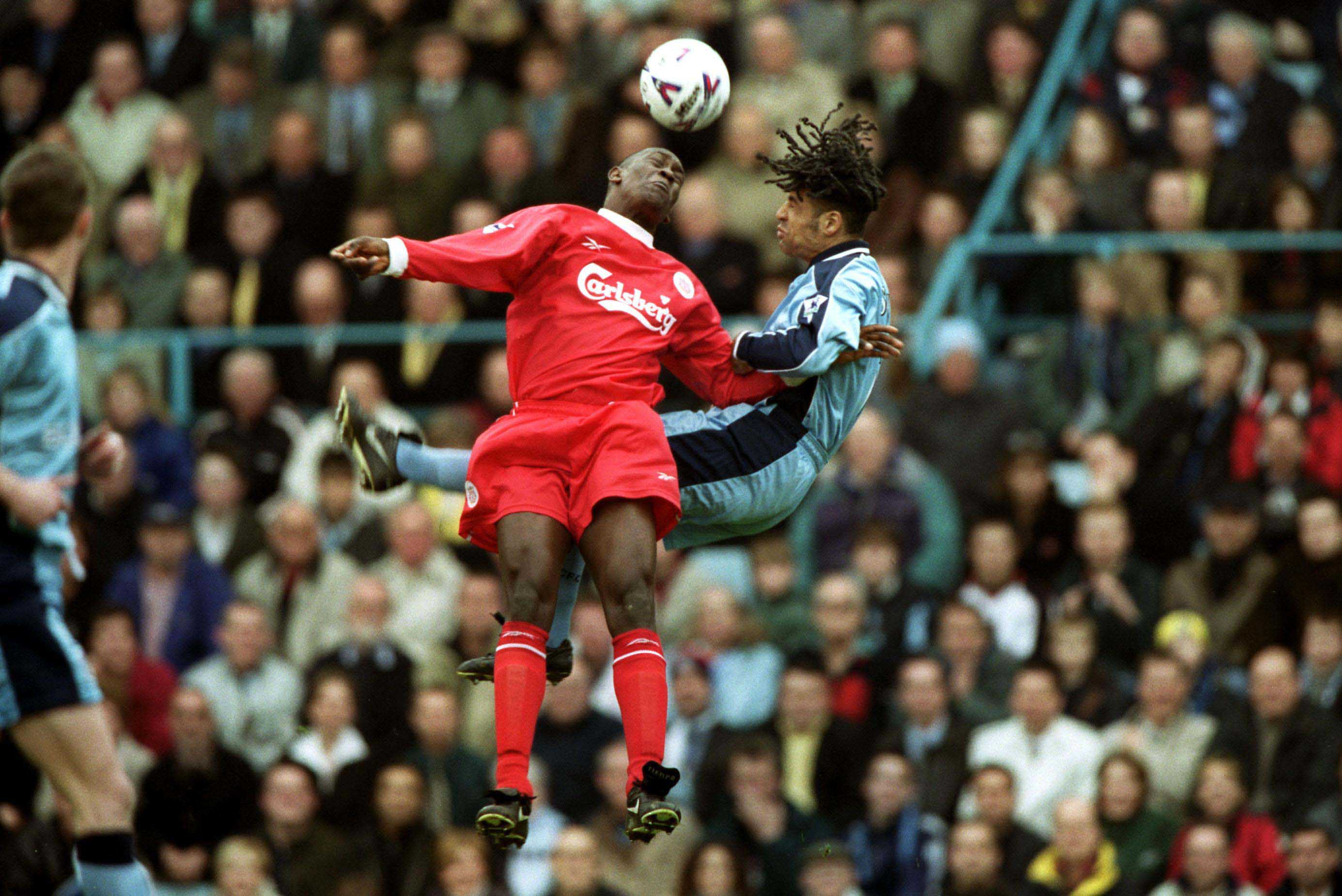LIVERPOOL #ONTHISDAY 01/04/2015 HESKEY OFF THE MARK