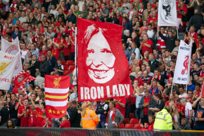 Anne Williams Iron Lady Banner Kop Liverpool