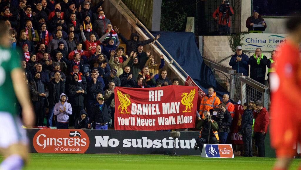 RIP Daniel May Banner LFC The Traveling Kop