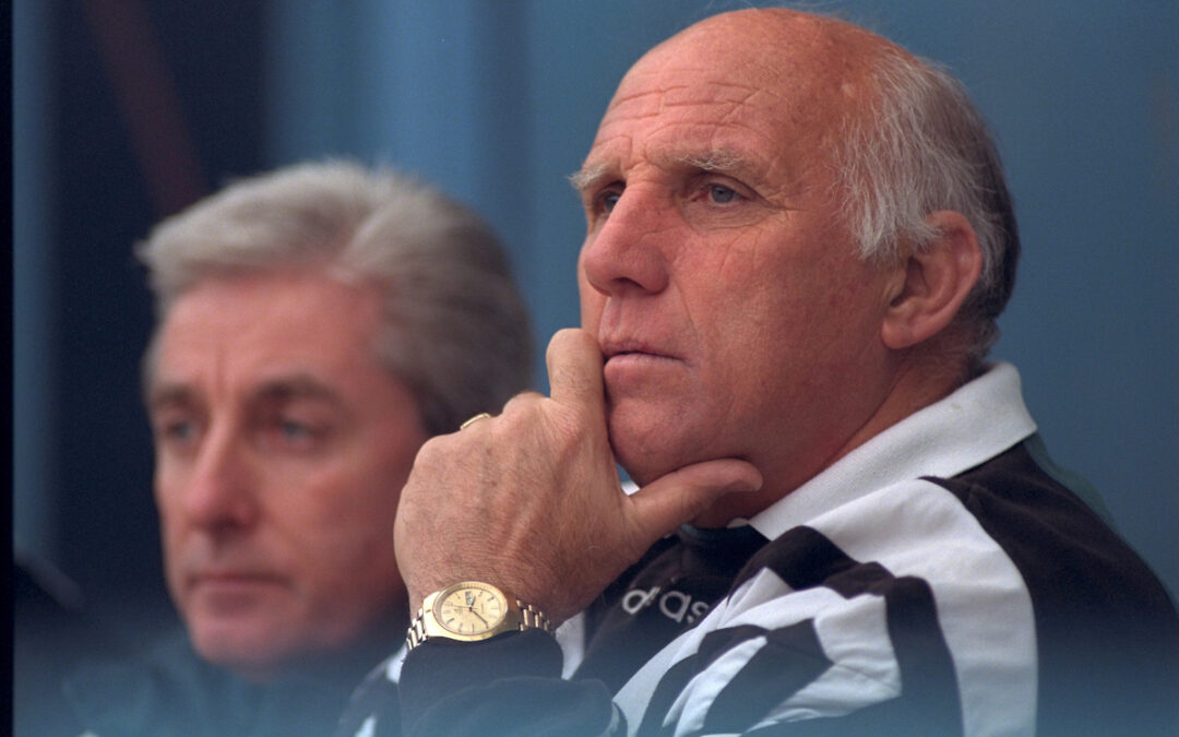 Liverpool's coach Ronnie Moran and manager Roy Evans against Coventry City during the Premiership match at Highfield Road