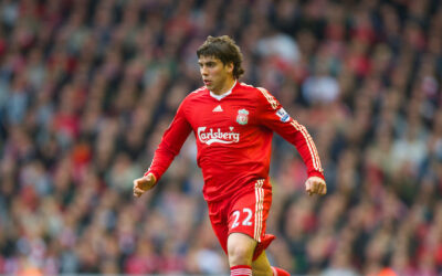 Liverpool's Emiliano Insua in action against Sunderland during the Premiership match at Anfield