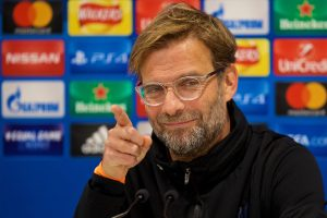 LIVERPOOL, ENGLAND - Tuesday, December 5, 2017: Liverpool's manager Jürgen Klopp during a press conference at Anfield ahead of the UEFA Champions League Group E match between Liverpool FC and FC Spartak Moscow. (Pic by David Rawcliffe/Propaganda)