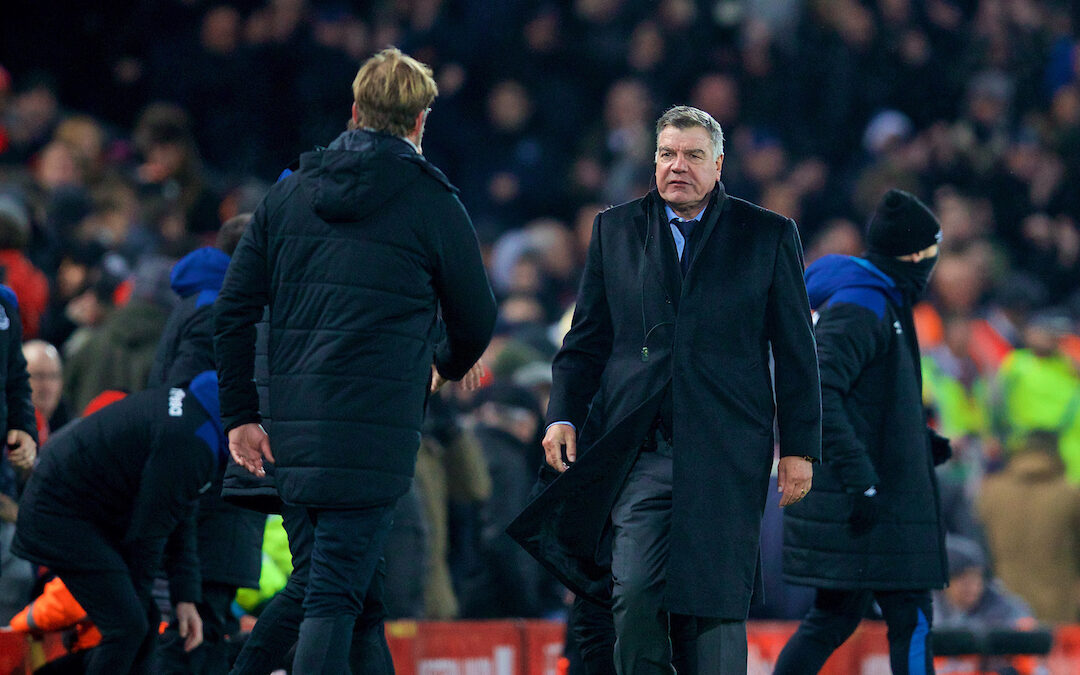 Liverpool's manager Jürgen Klopp and former Everton manager Sam Allardyce
