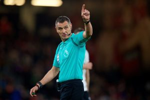 BOURNEMOUTH, ENGLAND - Sunday, December 17, 2017: Referee Andre Marriner during the FA Premier League match between AFC Bournemouth and Liverpool at the Vitality Stadium. (Pic by David Rawcliffe/Propaganda)