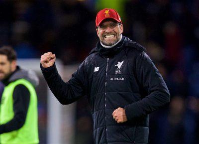Jurgen Klopp celebrates vs Burnley