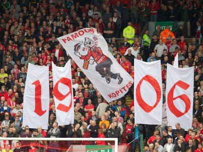Spoin Kop 1906 Banner Liverpool