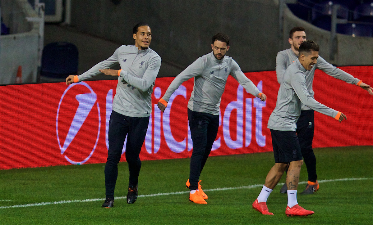 PORTO, PORTUGAL - Tuesday, February 13, 2018: Liverpool's Virgil van Dijk during a training session at the Estádio do Dragão ahead of the UEFA Champions League Round of 16 1st leg match between FC Porto and Liverpool FC. (Pic by David Rawcliffe/Propaganda)