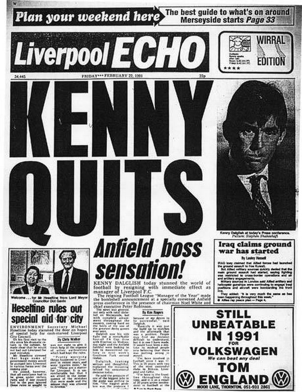 Kenny Quits 27 Years On: The Day Dalglish Shocked The