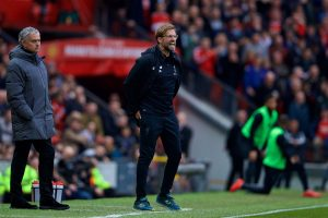 MANCHESTER, ENGLAND - Saturday, March 10, 2018: Liverpool's manager Jürgen Klopp reacts during the FA Premier League match between Manchester United FC and Liverpool FC at Old Trafford. (Pic by David Rawcliffe/Propaganda)