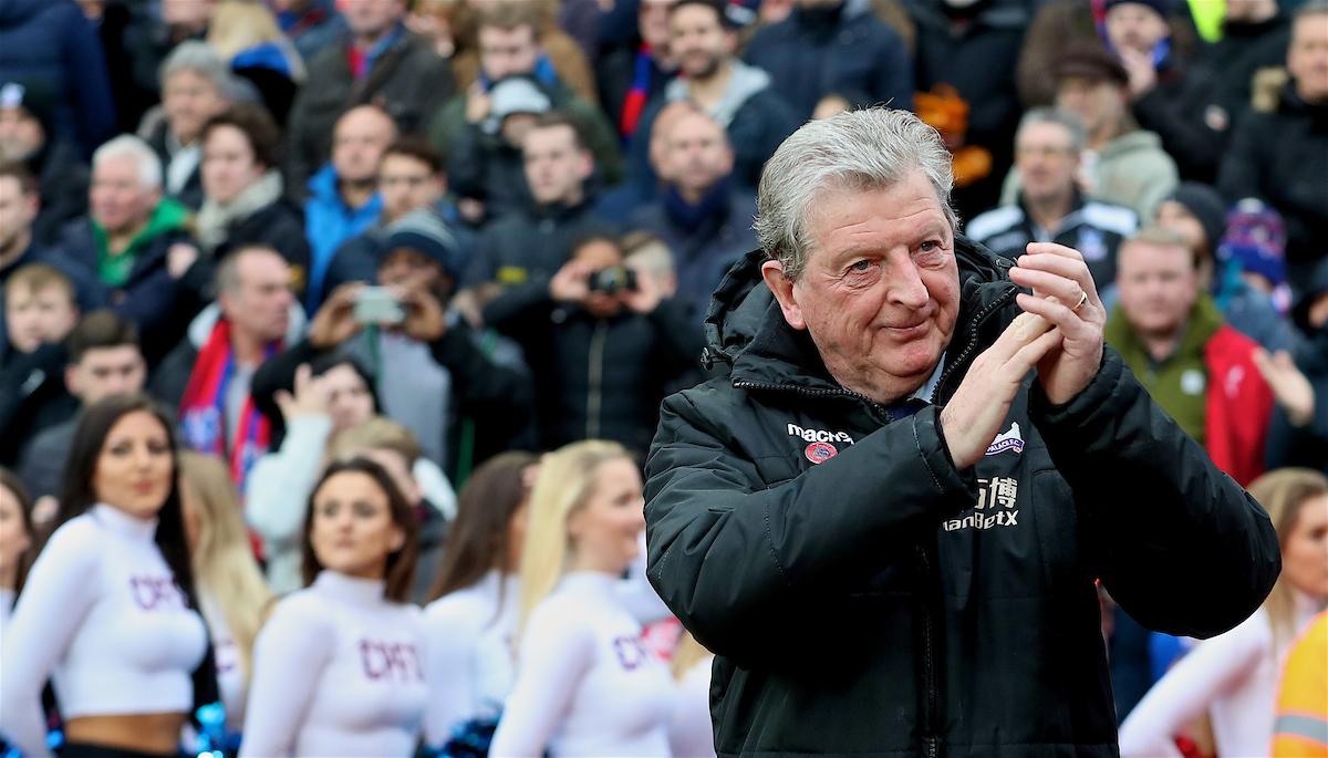 LONDON, ENGLAND - Saturday, March 31, 2018: Crystal Palace's manager Roy Hodgson before the FA Premier League match between Crystal Palace FC and Liverpool FC at Selhurst Park. (Pic by Dave Shopland/Propaganda)
