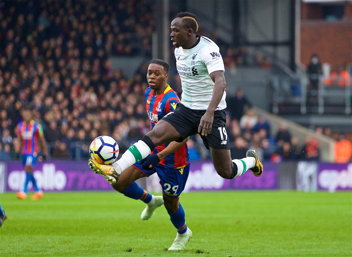LONDON, ENGLAND - Saturday, March 31, 2018: Liverpool's Sadio Mane during the FA Premier League match between Crystal Palace FC and Liverpool FC at Selhurst Park. (Pic by Dave Shopland/Propaganda)