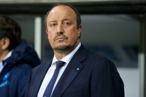 SWANSEA, WALES - Thursday, February 20, 2014: SSC Napoli's head coach Rafael Benitez during the UEFA Europa League Round of 32 1st Leg match against Swansea City at the Liberty Stadium. (Pic by David Rawcliffe/Propaganda)