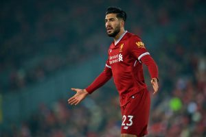 LIVERPOOL, ENGLAND - Saturday, March 3, 2018: Liverpool's Emre Can during the FA Premier League match between Liverpool FC and Newcastle United FC at Anfield. (Pic by Peter Powell/Propaganda)