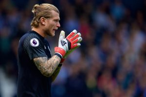 WEST BROMWICH, ENGLAND - Saturday, April 21, 2018: Liverpool's goalkeeper Loris Karius during the FA Premier League match between West Bromwich Albion FC and Liverpool FC at the Hawthorns. (Pic by David Rawcliffe/Propaganda)