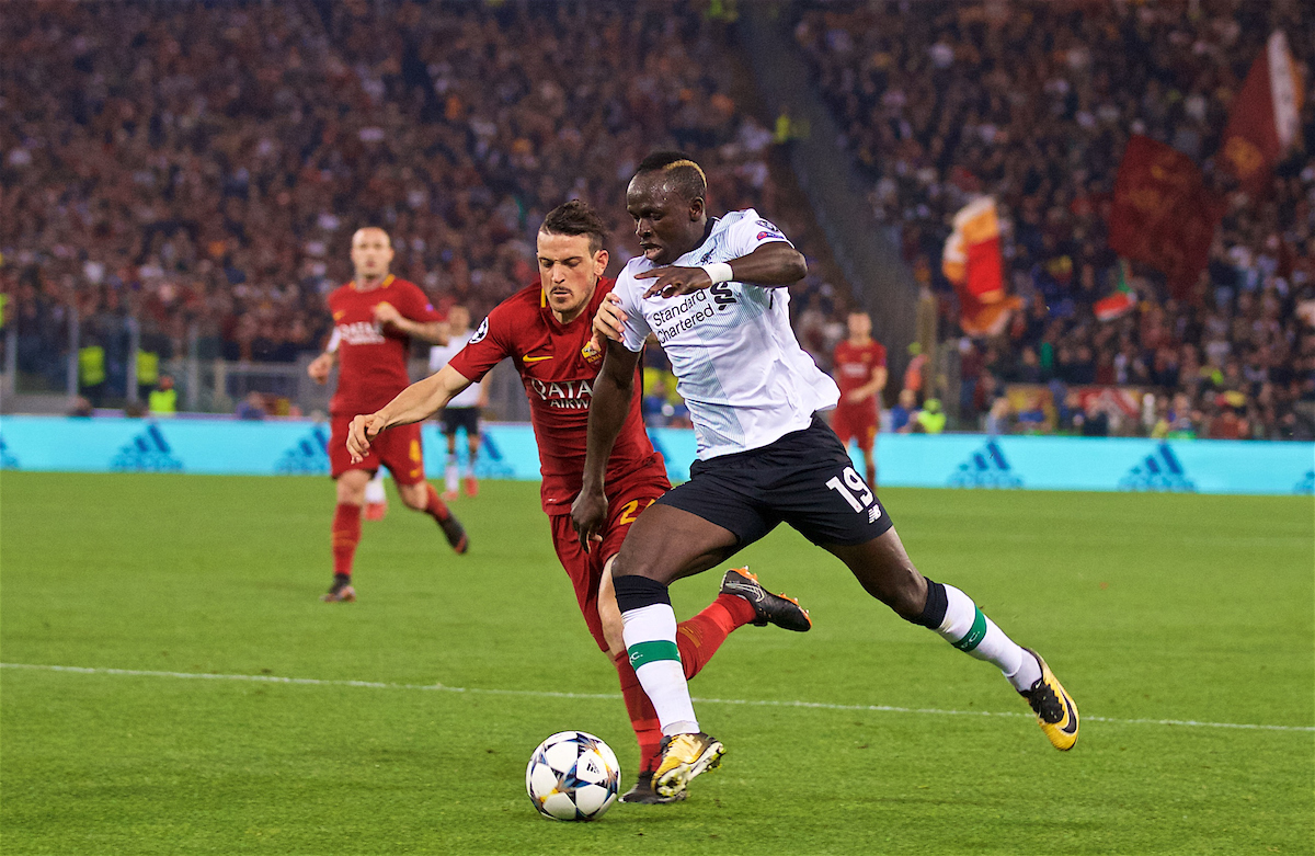 ROME, ITALY - Wednesday, May 2, 2018: Liverpool's Sadio Mane during the UEFA Champions League Semi-Final 2nd Leg match between AS Roma and Liverpool FC at the Stadio Olimpico. (Pic by David Rawcliffe/Propaganda)