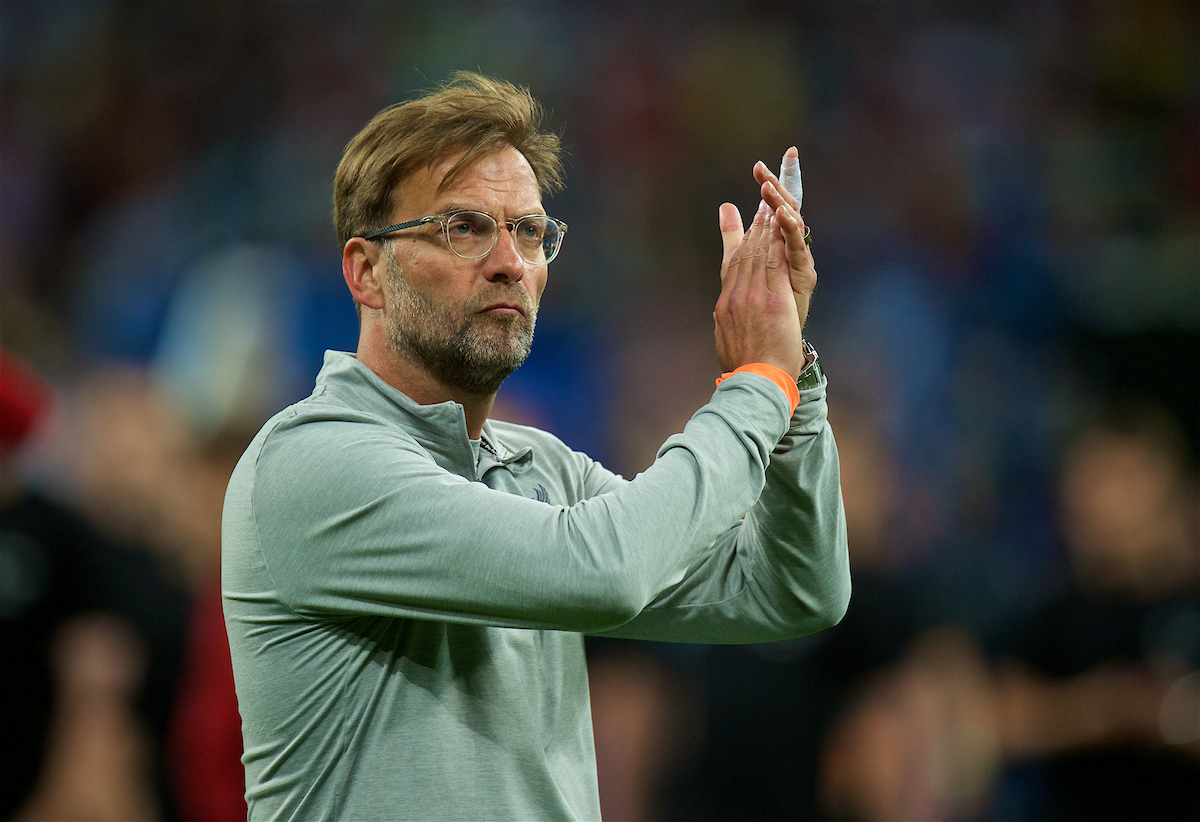 KIEV, UKRAINE - Saturday, May 26, 2018: Liverpool's manager Jürgen Klopp looks dejected as his side lose during the UEFA Champions League Final match between Real Madrid CF and Liverpool FC at the NSC Olimpiyskiy. Real Madrid won 3-1. (Pic by Peter Powell/Propaganda)