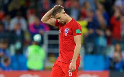 England's Jordan Henderson looks dejected