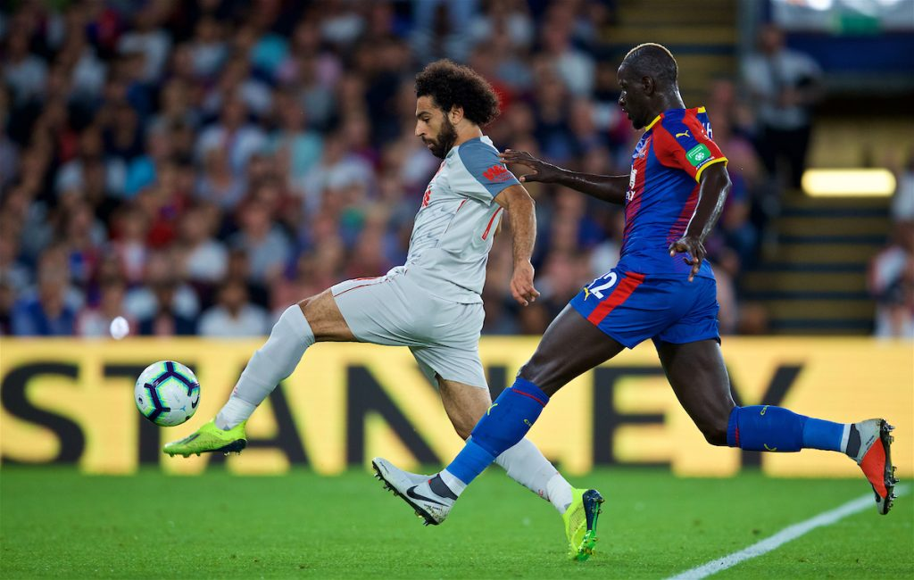 LONDON, ENGLAND - Monday, August 20, 2018: Liverpool's Mohamed Salah during the FA Premier League match between Crystal Palace and Liverpool FC at Selhurst Park. (Pic by David Rawcliffe/Propaganda)