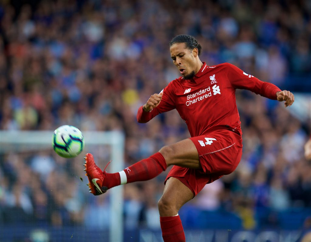 LONDON, ENGLAND - Saturday, September 29, 2018: Liverpool's Virgil van Dijk during the FA Premier League match between Chelsea FC and Liverpool FC at Stamford Bridge. (Pic by David Rawcliffe/Propaganda)
