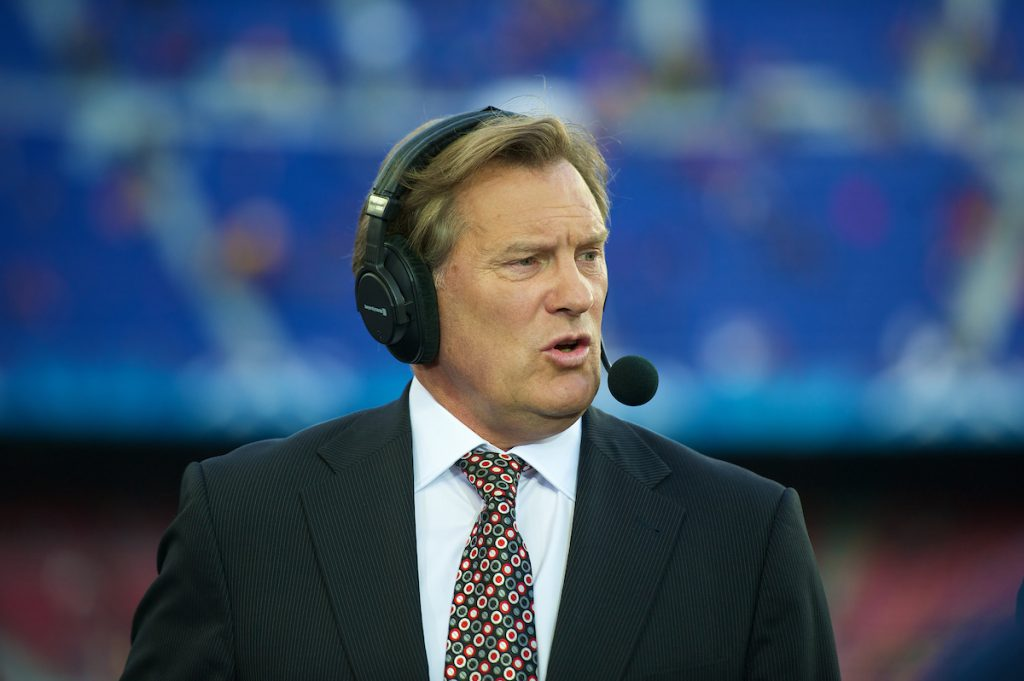 BARCELONA, SPAIN - Tuesday, April 24, 2012: Sky television pudit Glenn Hoddle before the UEFA Champions League Semi-Final 2nd Leg match between FC Barcelona and Chelsea at the Camp Nou. (Pic by David Rawcliffe/Propaganda)