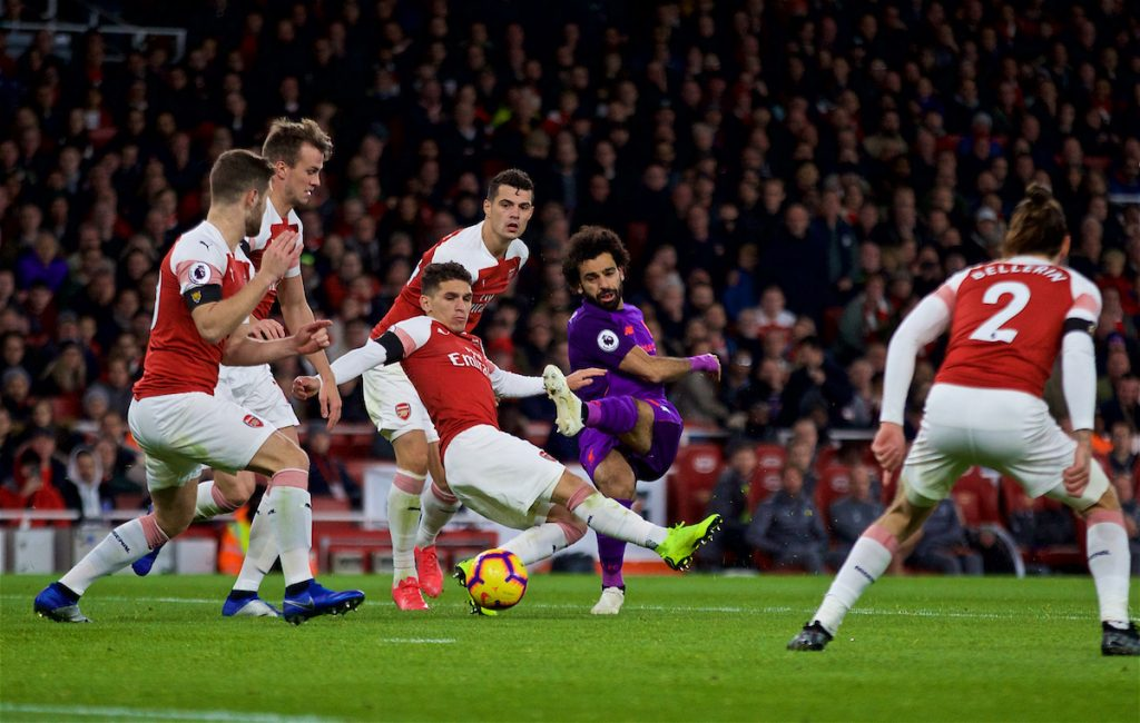 LONDON, ENGLAND - Saturday, November 3, 2018: Liverpool's Mohamed Salah during the FA Premier League match between Arsenal FC and Liverpool FC at Emirates Stadium. (Pic by David Rawcliffe/Propaganda)