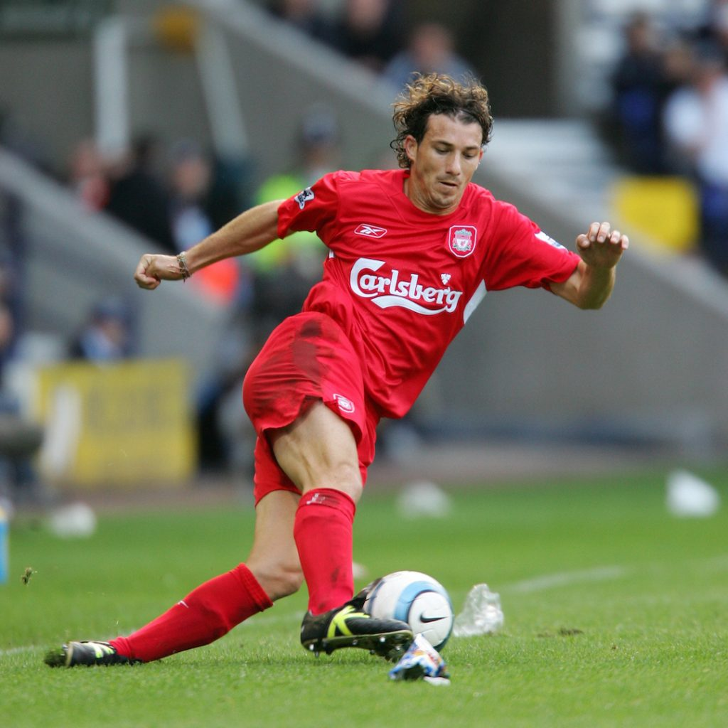 BOLTON, ENGLAND - SUNDAY AUGUST 29th 2004: Liverpool's Josemi in action during the Premiership match against Bolton at the Reebok Stadium. (Photo by David Rawcliffe/Propaganda)