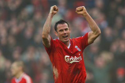 Jamie Carragher Liverpool Everton Merseyside Derby