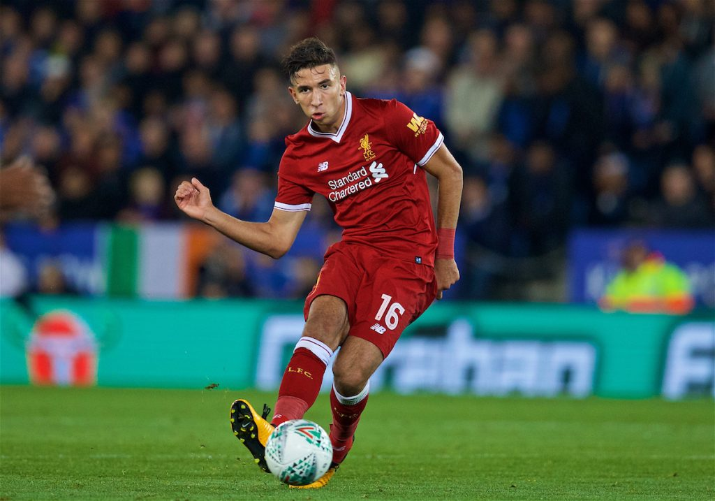 LEICESTER, ENGLAND - Tuesday, September 19, 2017: Liverpool's Marko Grujic during the Football League Cup 3rd Round match between Leicester City and Liverpool at the King Power Stadium. (Pic by David Rawcliffe/Propaganda)