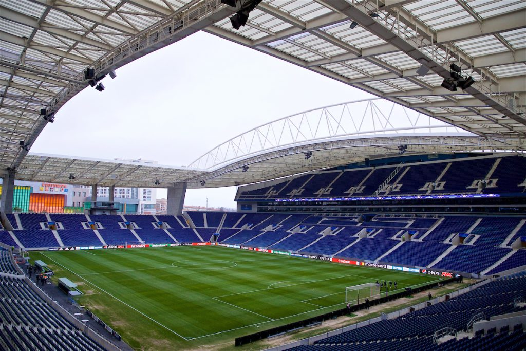 PORTO, PORTUGAL - Tuesday, February 13, 2018: A general view of the Estádio do Dragão before a training session ahead of the UEFA Champions League Round of 16 1st leg match between FC Porto and Liverpool FC. (Pic by David Rawcliffe/Propaganda)