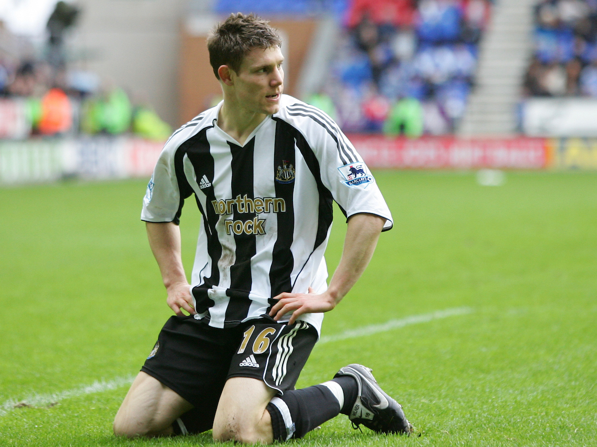 Wigan, England - Sunday, February 25, 2007: Newcastle United's James Milner looks dejected as they fail to score a goal against Wigan Athletic during the Premiership match at the JJB Stadium. (Pic by David Rawcliffe/Propaganda)