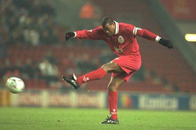 Wednesday, November 27th, 1996: Liverpool's John Barnes in action