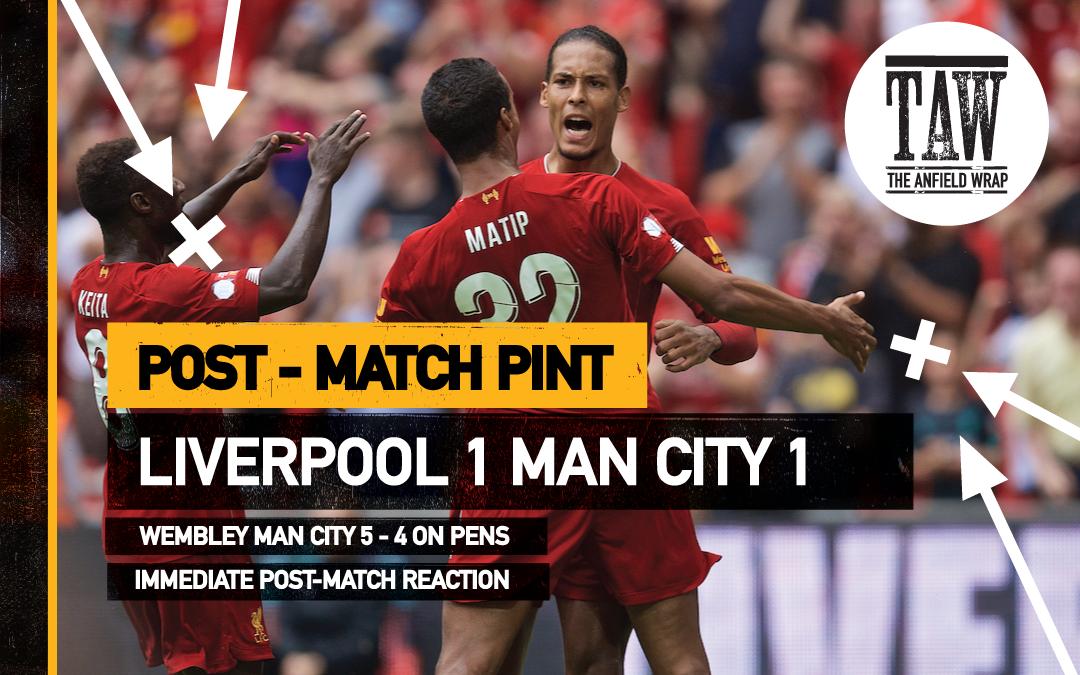 Liverpool 1 Man City 1   The Post Match Pint