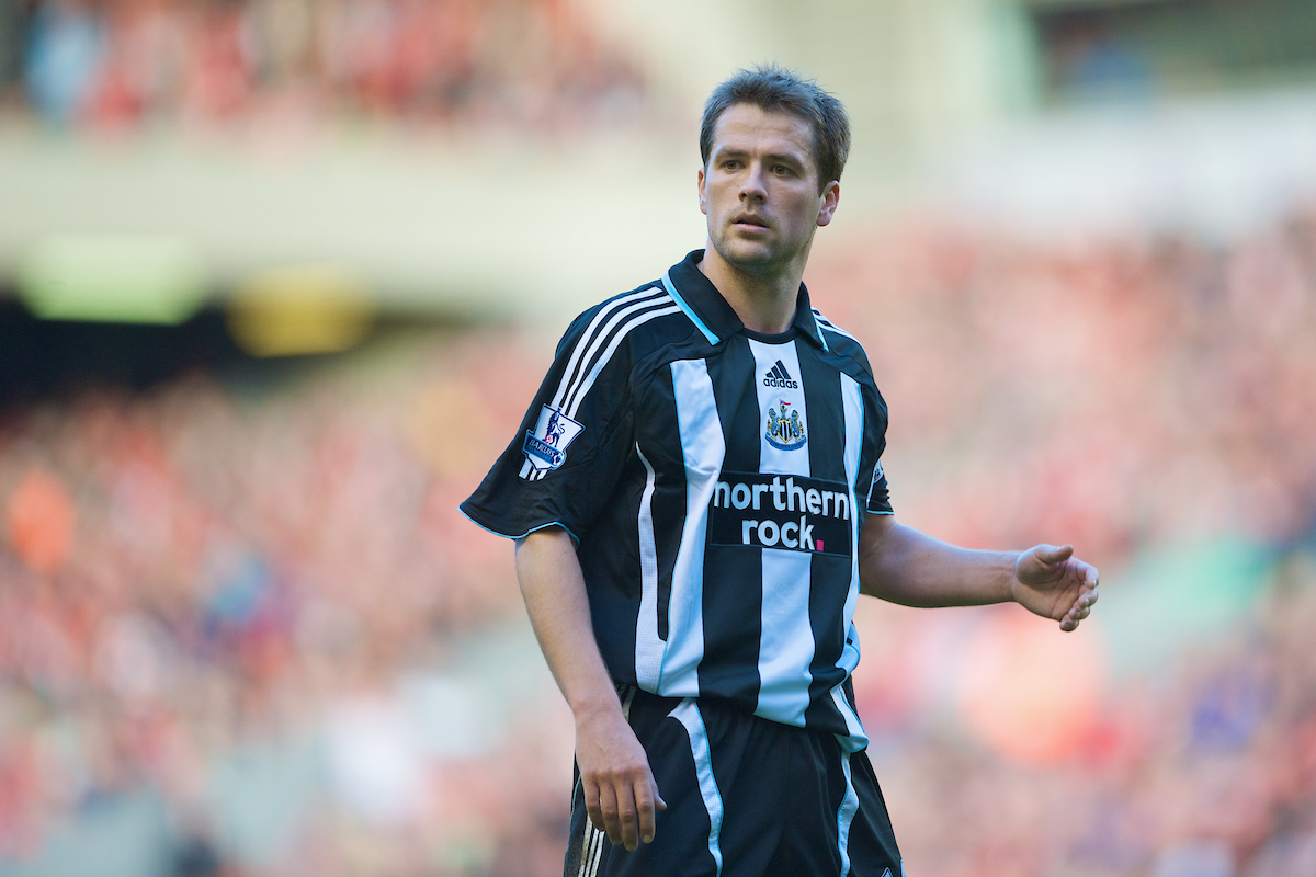 LIVERPOOL, ENGLAND - Saturday, March 8, 2008: Newcastle United's Michael Owen during the Premiership match against Liverpool at Anfield. (Photo by David Rawcliffe/Propaganda)