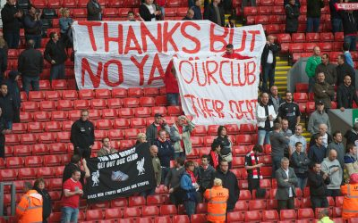 Liverpool Supporters Protest Hicks Gillett