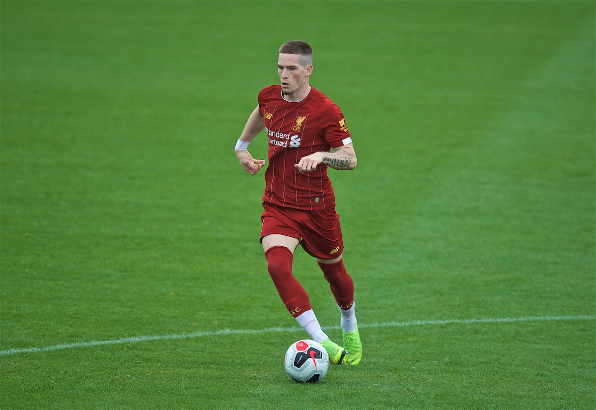KIRKBY, ENGLAND - Saturday, August 10, 2019: Liverpool's Ryan Kent during the Under-23 FA Premier League 2 Division 1 match between Liverpool FC and Tottenham Hotspur FC at the Academy. (Pic by David Rawcliffe/Propaganda)
